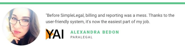 Alexandra Bedon Case Study Quote